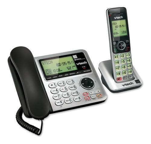 Teléfono Inalambrico Doble + Teléfono Fijo Vtech Csr6649