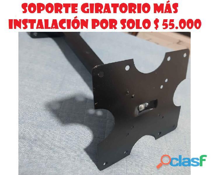 ECONOMICOS SOPORTES TV TELEVISOR GIRATORIO 2