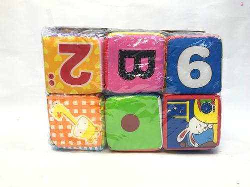 Juego de cubos didácticos para bebe suave x6