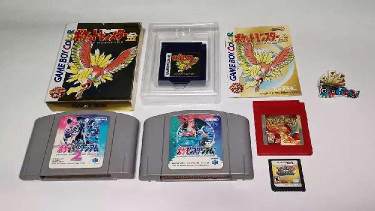 Juegos Nintendo Gameboy Pokemon Oro Gold Rojo Red N64 Ds