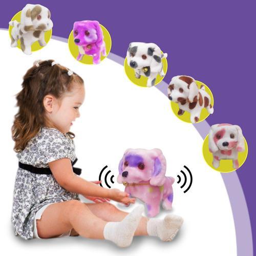Perro peluche niños movimientos caminan juguete jugueteria