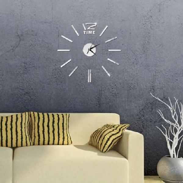 Reloj pared tipo 3d, 50 centímetros diámetro