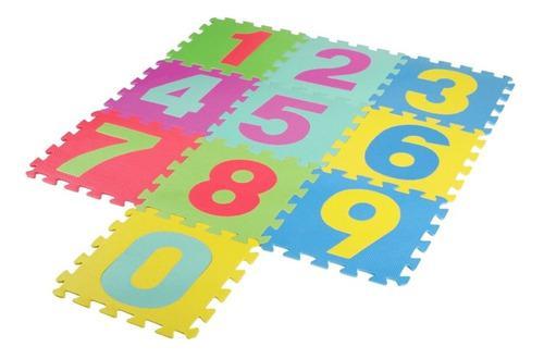 Tapetes foami didáctico para niños,10 fichas de 30x30
