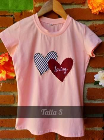 Camiseta talla s rosada