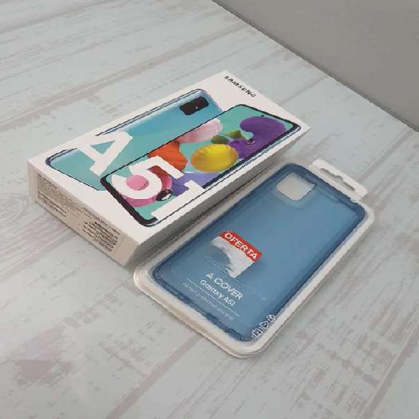 Samsung galaxy a51 nuevo en caja con garantía + 2 forros