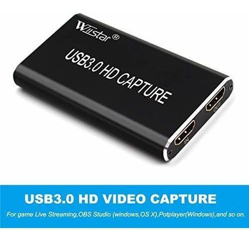Tarjeta de video usb c de captura de video hdmi a usb 3.0 co