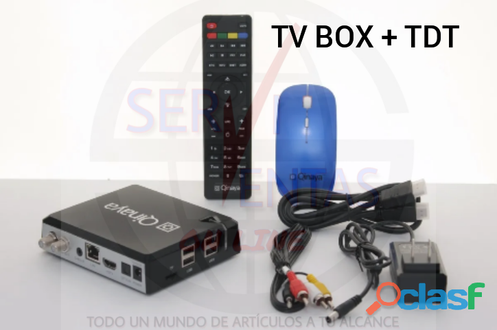 Tv box convertidor smartv decodificador tdt