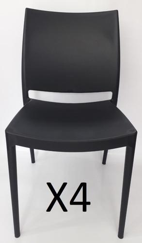 4 silla magica plastica apilable protec uv para restaurante