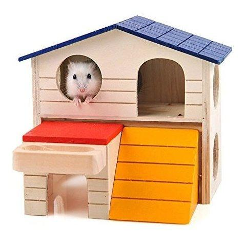 Bwogue mascota escondite de animales pequeños hamster house