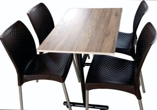 Mesa y sillas para negocio de bar, restaurante, pizzería