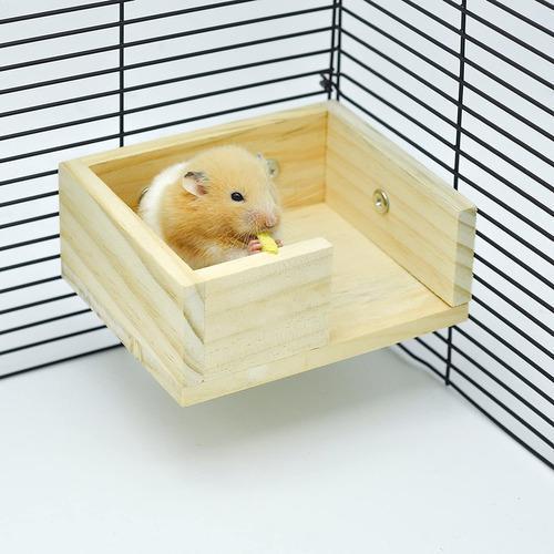 Niteangel hámster mouse pequeño de madera animales lookout