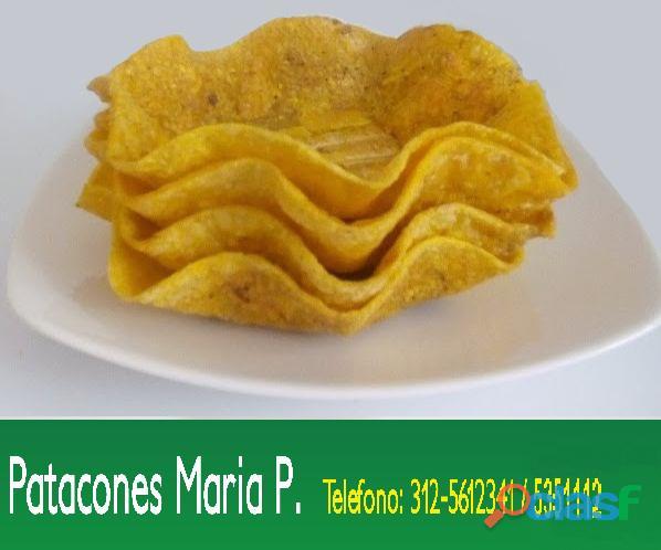 Patacones Prefritos ,canastas , conos , tacos, Formas y Tamaños