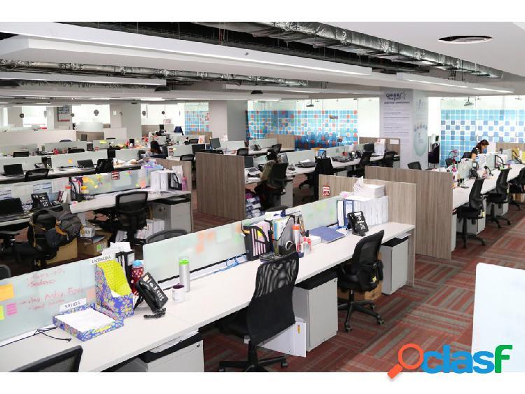 Arrendamiento de oficinas 500 m2 norte bogotá