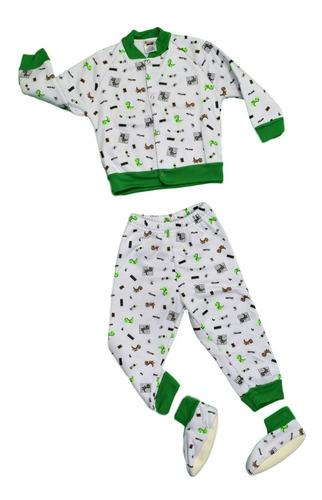 Pijama bebé térmica 3 piezas estampado para niño