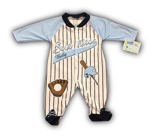 Pijama bebe enteriza beisbol