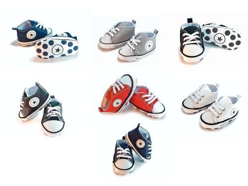 Zapatos, tenis bebe tipo converse deportivo unisex nacional