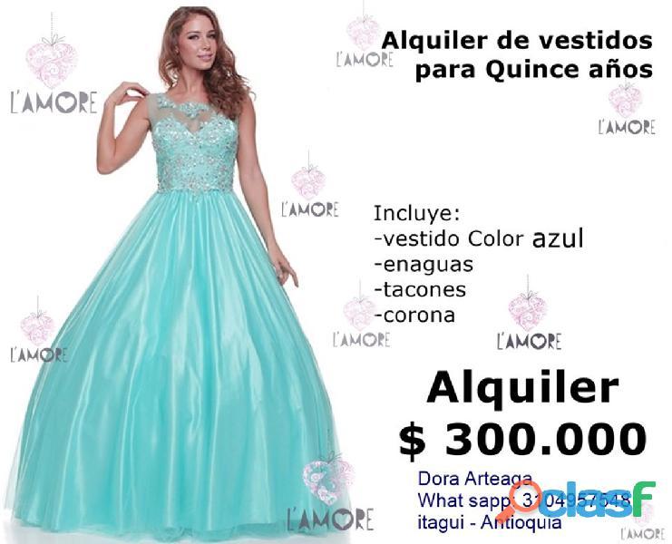 Alquiler de quinceañero + corona + tacones $ 300.000