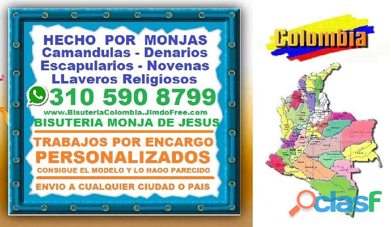 ⭐ MONJA DE JESUS, Camandulas, Rosarios, Denarios, Escapularios, Japa Mala Budista, Pulseras, Collare