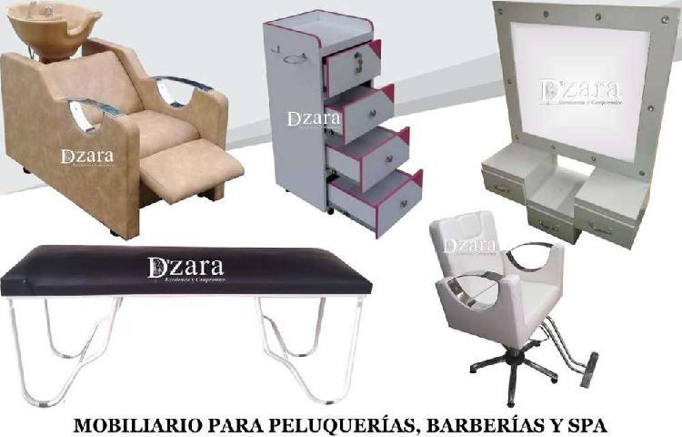 15 fabricamos muebles para peluquería, barberia, camillas,