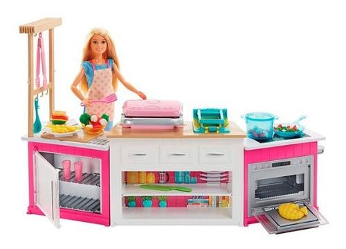 Barbie cocina infantil de muñecas juego niños y accesorios