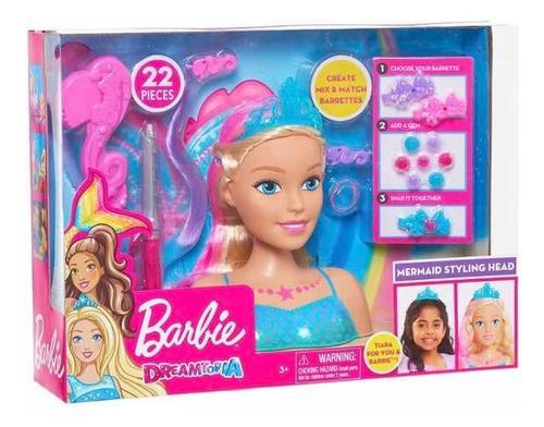 Barbie peinados dreamtopia sirena y accesorios 22 piezas