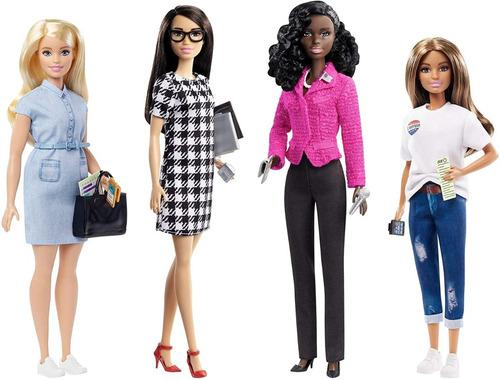 Barbie set candidata campaña 2020 + accesorios