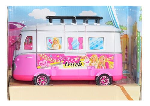 Carro furgoneta tipo barbie con accesorios de playa juguetes