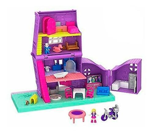 Polly pocket casa de muñecas pollyville mattel con