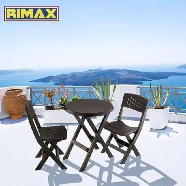 Mesa +2 sillas plegables rimax nueva