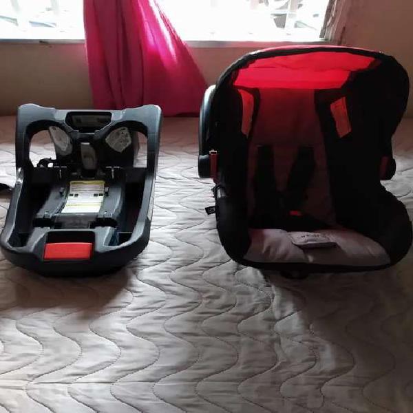 Silla + base para de bebé para vehículos unisexo.