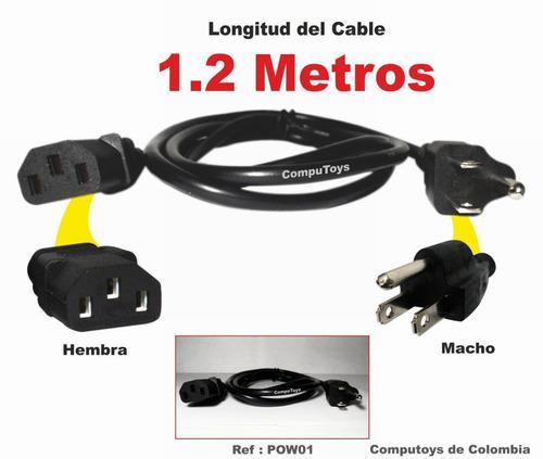 Zpow01 cable poder cpu a corriente 1.2 m qpow01q compu-toys