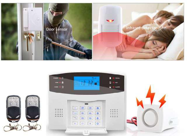 Alarma gsm con sensor antimascota español 433mhz