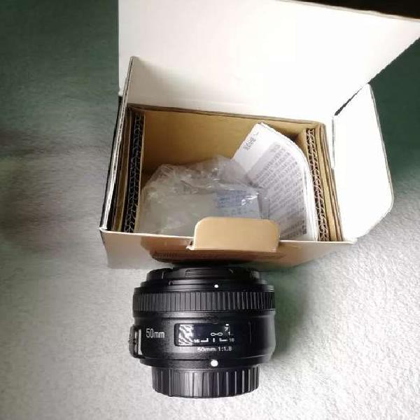 Lente yongnuo 50mm 1.8 para nikon nuevo