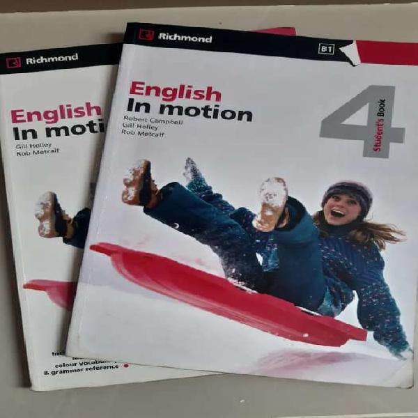 Libros de inglés english in motion 4 usados