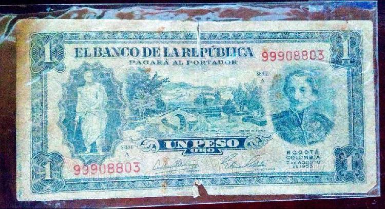 Billete 1 peso oro de 1953