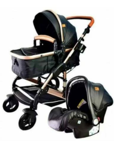 Coche para bebé moisés con silla para carro aluminio.