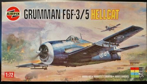 Modelo a escala de armar grumman f6f-3/5 hellcat