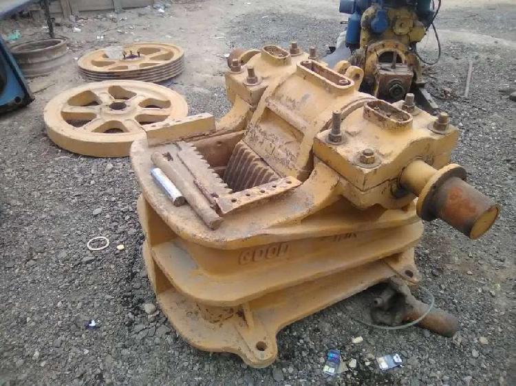 Trituradora de mandibula con motor diesel o planta electrica