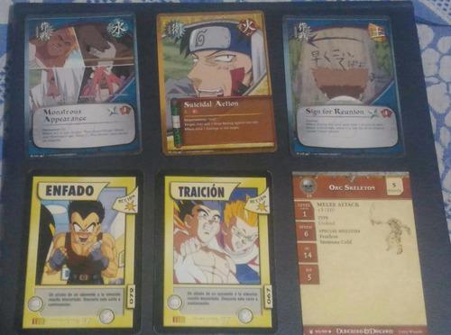 Cartas originales juego de rol dragon ball gt naruto d&d tcg