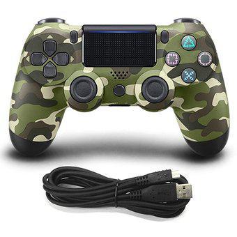 Controlador de juegos con cable dualshock 4 para sony ps4