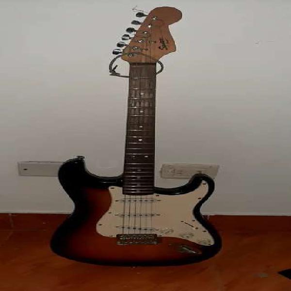 Guitarra electrica fender y bajo vorson