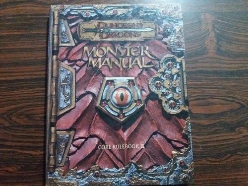 Libro dungeons & dragons monster manual juego de rol