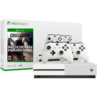 Xbox one s blanco 1000 gb 1 tb 2 controles + call of duty mw