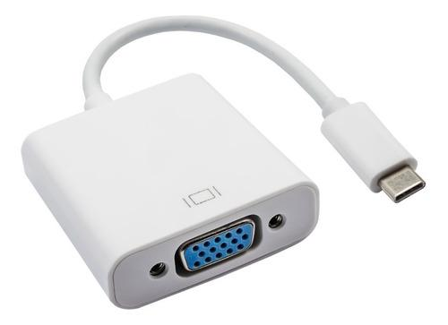 Adaptador conector convertidor usb tipo-c 3.1 a vga video