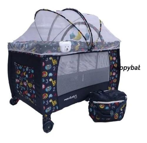 Corral para bebetipo camping con mecedoras,toldillo y maleta