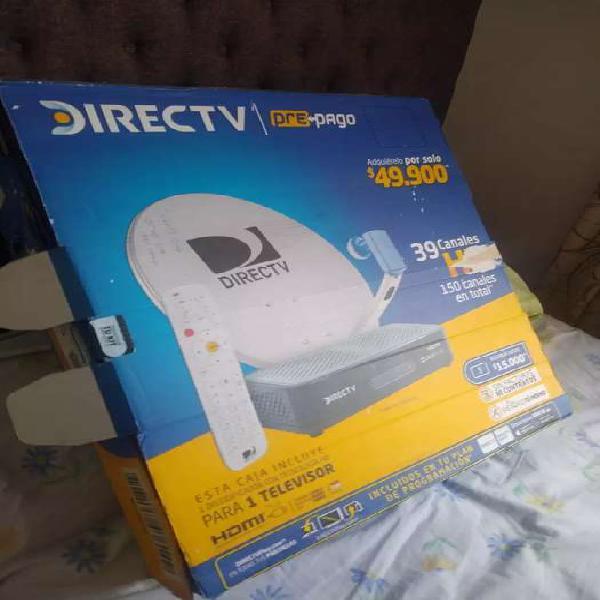 Antena direct tv completa + decodificador + adaptador dc +