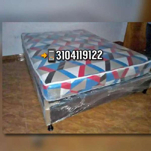 Base cama con colchón ortopedico