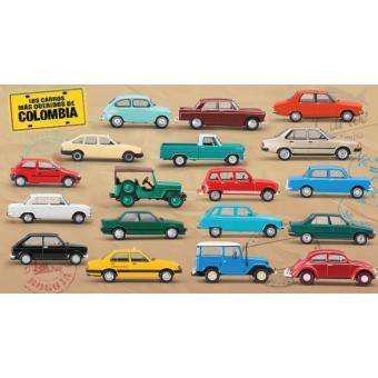 Coleccion los carros mas queridos de colombia con envio