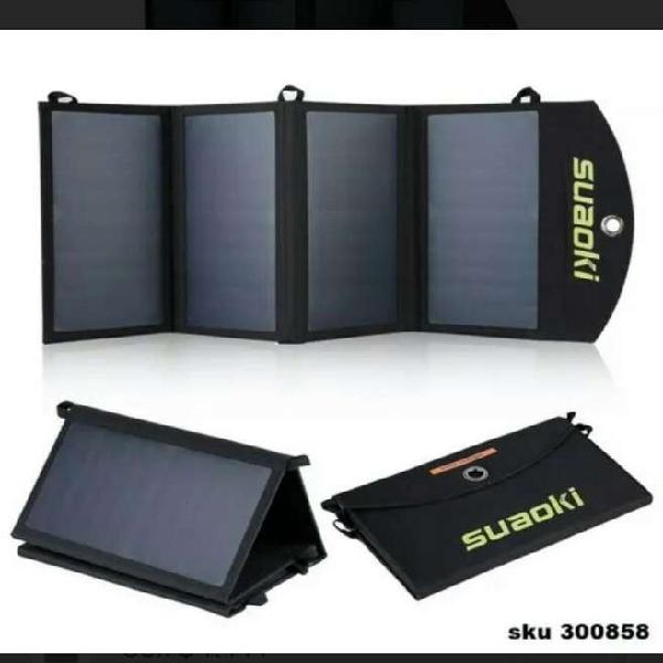 Cargador solar portátil suaoki plegable