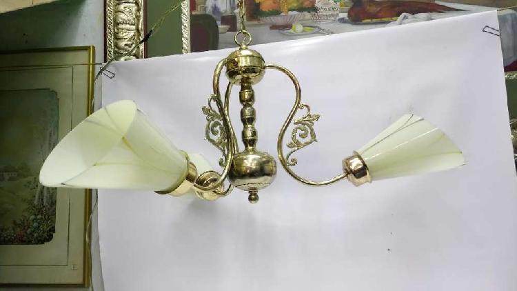 Lampara techo italy baño oro cristal